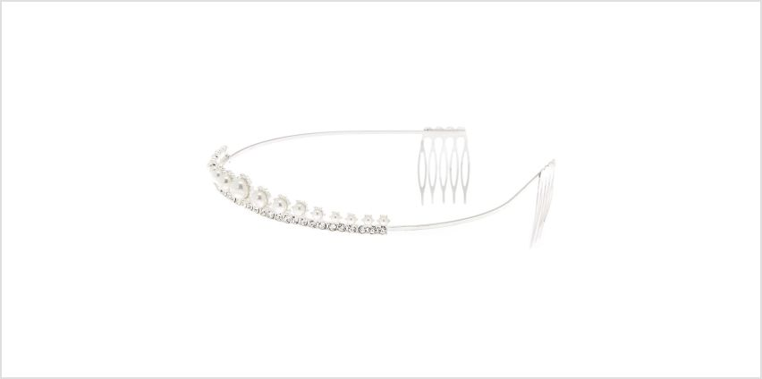 Go to Product: Silver Pearl Enchantment Tiara from Claires