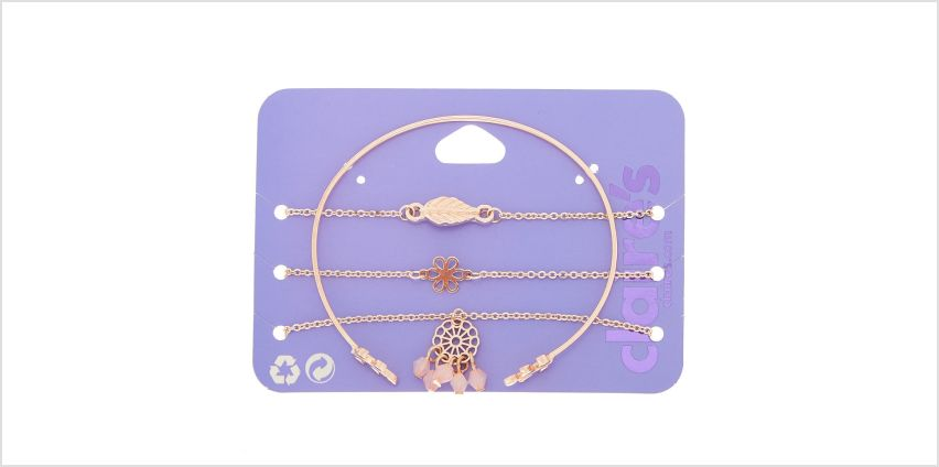 Go to Product: Rose Gold Delicate Statement Bracelets - 4 Pack from Claires