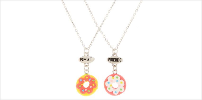 Go to Product: Best Friends Neon Donut Pendant Necklaces - 2 Pack from Claires