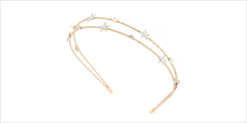 Go to Product: Night Sky Two Row Headband - Pink from Claires