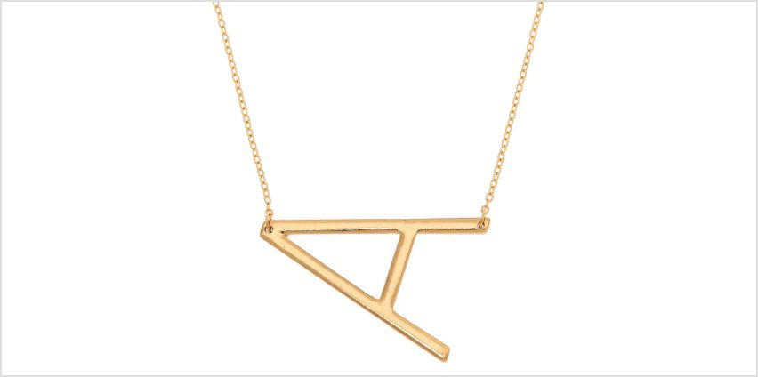 Go to Product: Oversized Initial Pendant Necklace - A from Claires