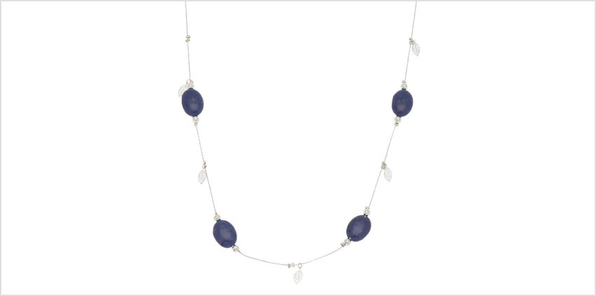 Go to Product: Silver Stone Long Necklace - Blue from Claires