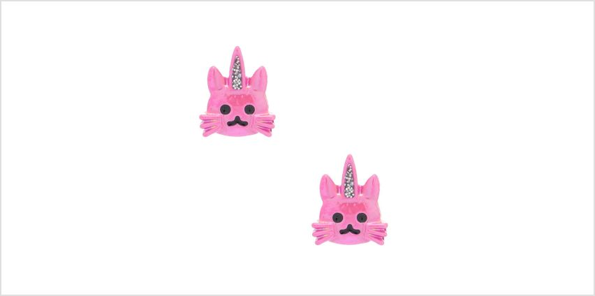 Go to Product: Pink Caticorn Stud Earrings from Claires