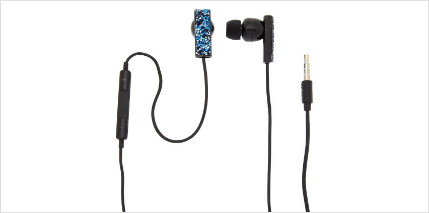 Go to Product: Midnight Cake Glitter Earbuds with Mic - Blue from Claires