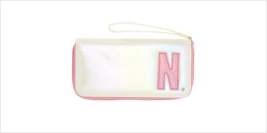 Go to Product: Pearlescent Initial Wristlet - N from Claires