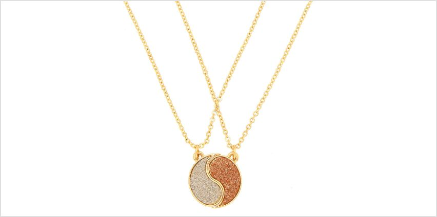 Go to Product: Gold Best Friends Yin Yang Glitter Pendant Necklaces - 2 Pack from Claires