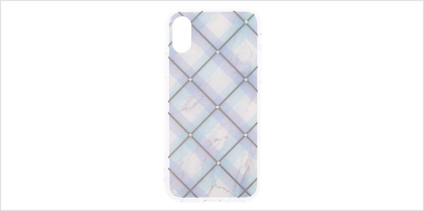 Go to Product: Argyle Plaid Phone Case - Fits iPhone X/XS from Claires