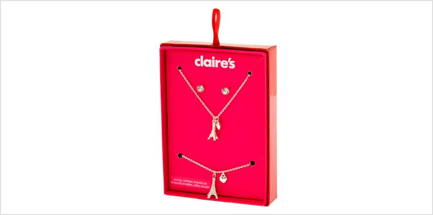 Go to Product: Silver Eiffel Tower Jewellery Gift Set - 3 Pack from Claires