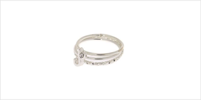 Go to Product: Silver Initial Midi Rings - J, 3 Pack from Claires