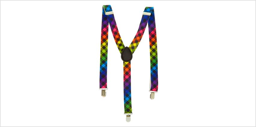 Go to Product: Rainbow Checkered Suspenders from Claires
