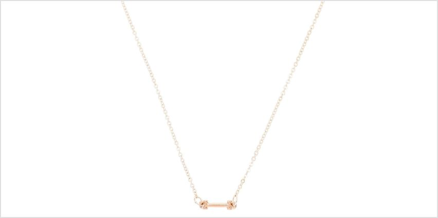 Go to Product: Mixed Metal Sideways Initial Pendant Necklace - I from Claires