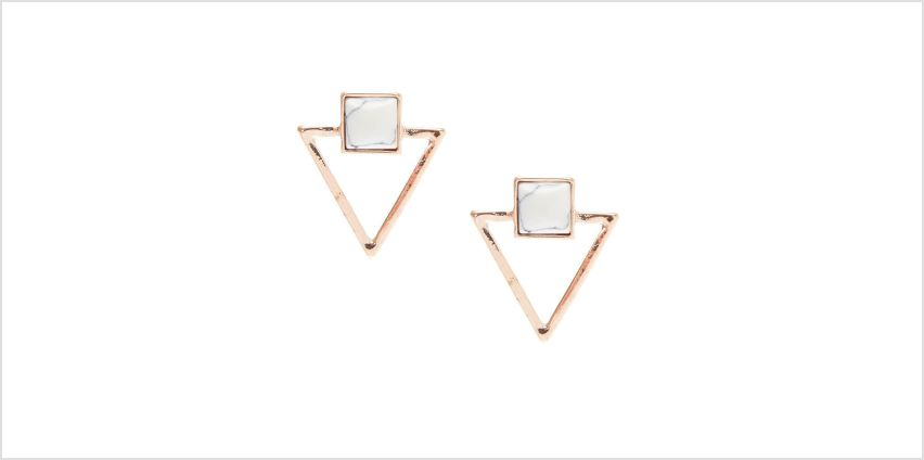 Go to Product: Rose Gold & Marble Triangle Stud Earrings from Claires