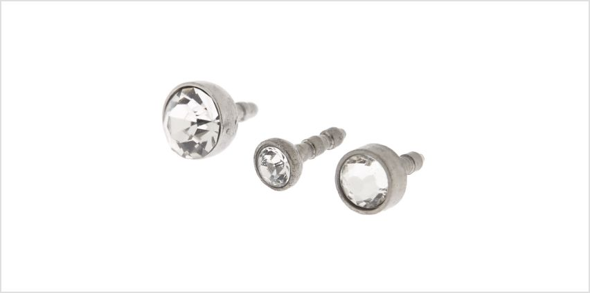 Go to Product: Titanium 16G Stone Labret Studs - 3 Pack from Claires