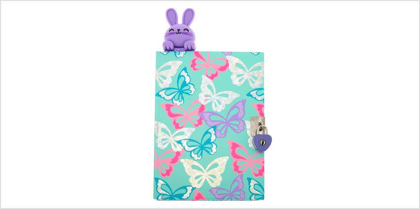 Go to Product: Bella The Bunny Popover Bookmark Lock Notebook - Purple from Claires