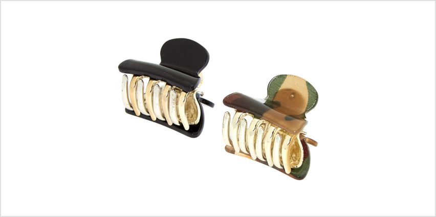 Go to Product: Camo Print Mini Hair Claws - 2 Pack from Claires