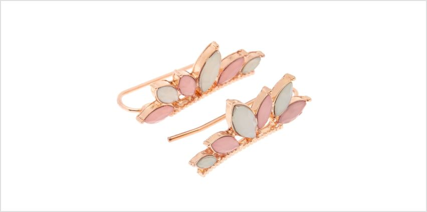 Go to Product: Blush Stone Ear Crawler Earrings from Claires