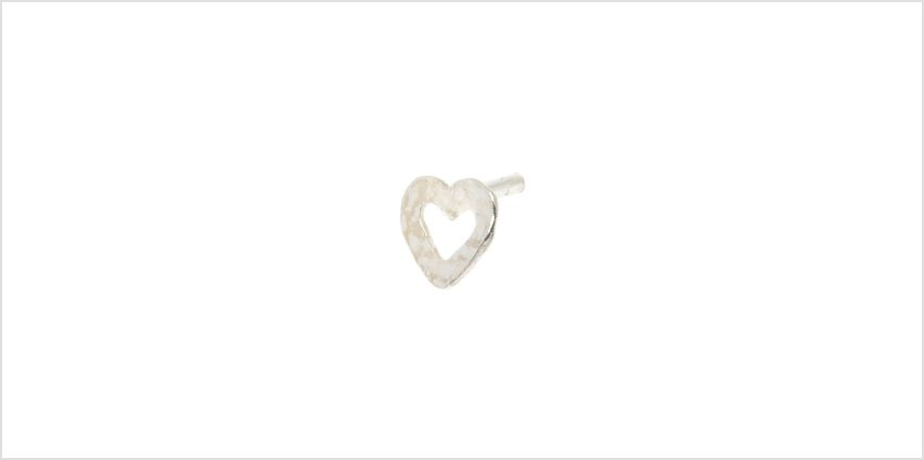 Go to Product: Sterling Silver 16G Open Heart Tragus Stud Earring from Claires