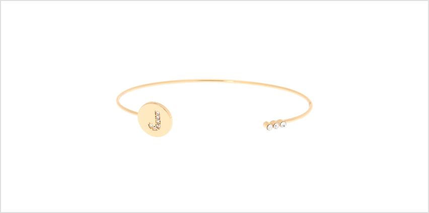 Go to Product: Gold Initial Cuff Bracelet - J from Claires