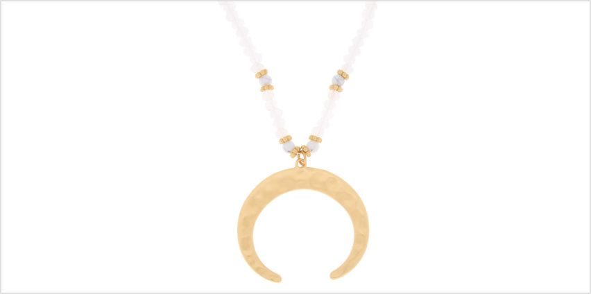 Go to Product: Gold Beaded Horn Long Pendant Necklace from Claires