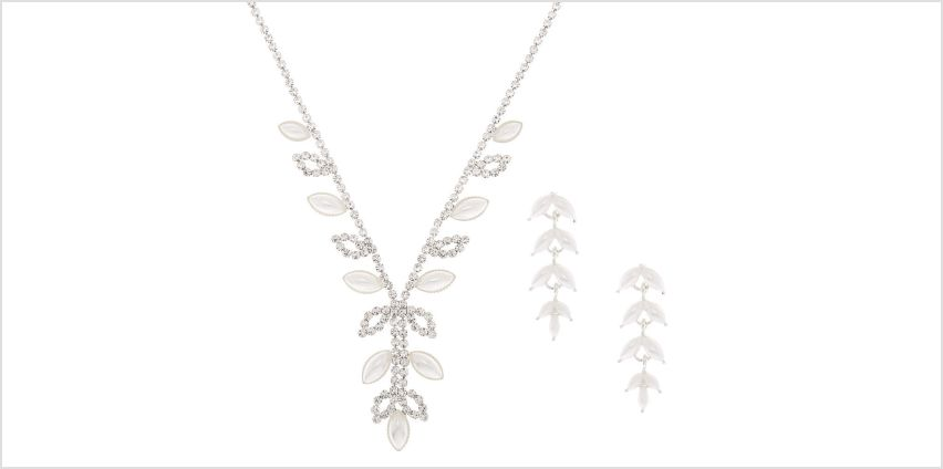 Go to Product: Silver Pearl Leaf Jewellery Set - 2 Pack from Claires