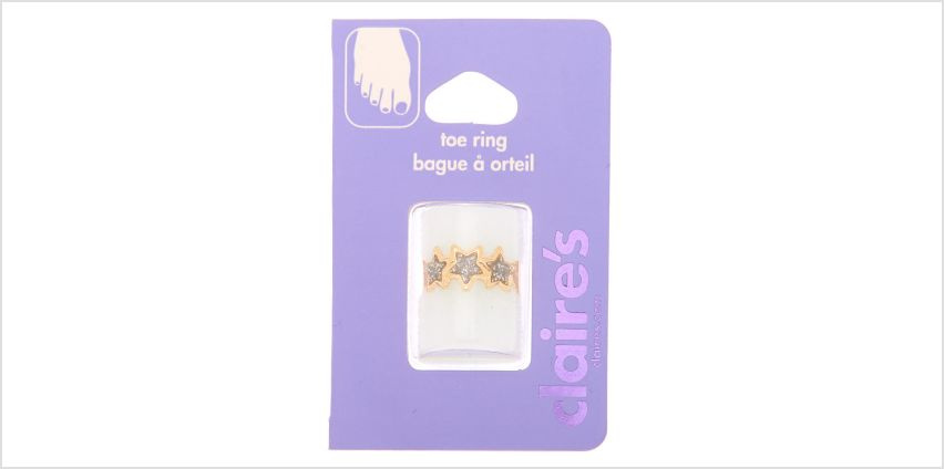 Go to Product: Gold Glitter Stars Toe Rings from Claires