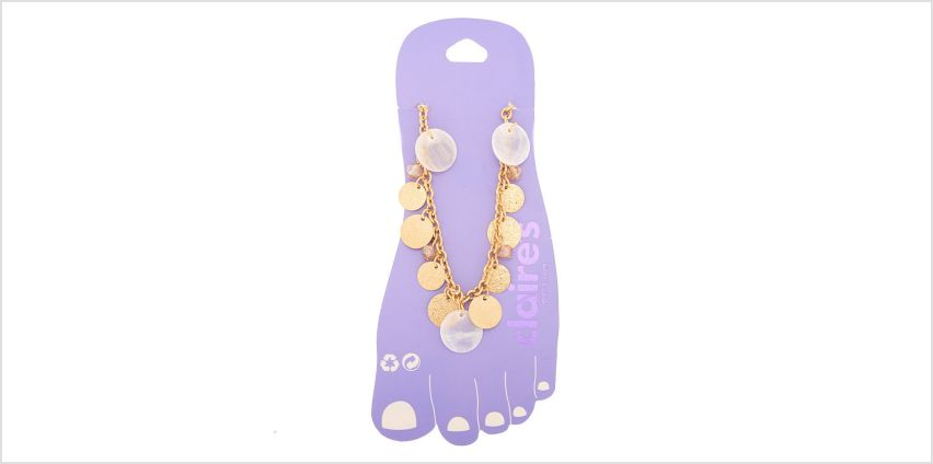 Go to Product: Gold Disc Chain Anklet from Claires