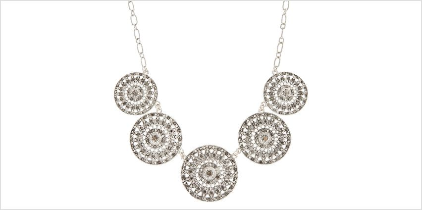Long Chain Disk Pendant Necklace from Claires