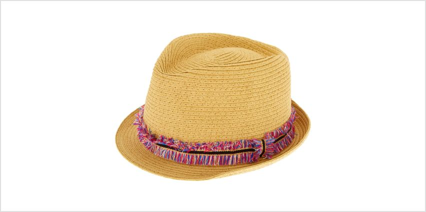 Go to Product: Rainbow Fringe Fedora Hat from Claires