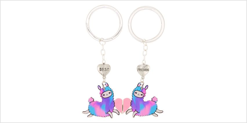 Go to Product: Best Friends Llamacorn Keychains - Purple, 2 Pack from Claires