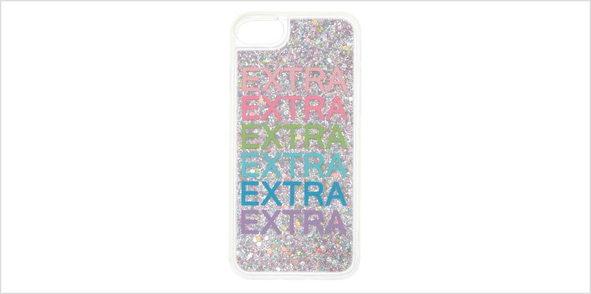 Go to Product: Extra Glitter Phone Case - Fits iPhone 6/7/8 from Claires