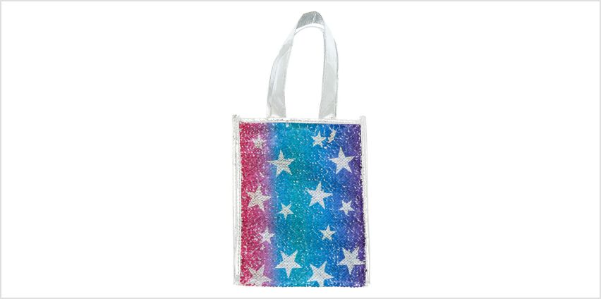 Go to Product: Reversible Sequin Star Tote Gift Bag - Silver from Claires