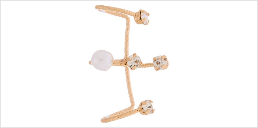 """Go to Product: Gold 1"""" Pearl Ear Cuff from Claires"""