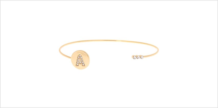 Go to Product: Gold Initial Cuff Bracelet - A from Claires