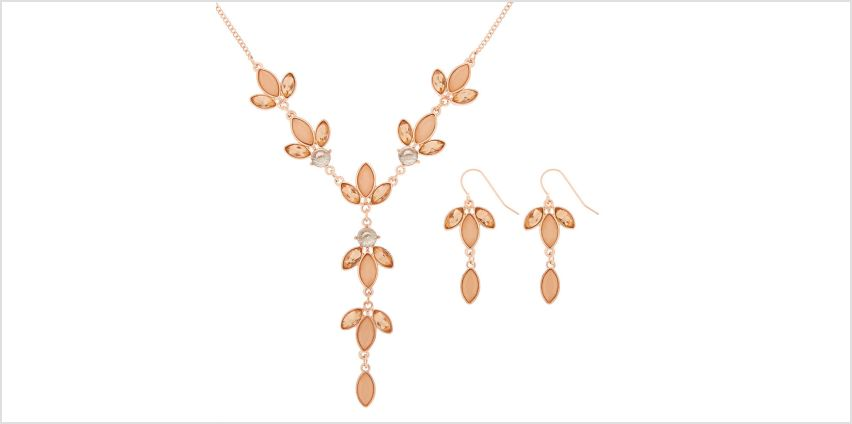 Go to Product: Rose Gold Petal Jewellery Set - Pink, 2 Pack from Claires