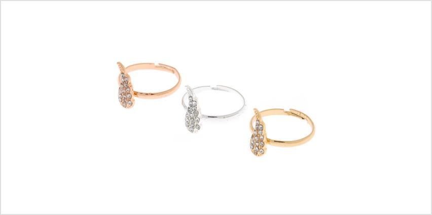 Go to Product: Best Friends Mixed Metal Wing Rings - 3 Pack from Claires