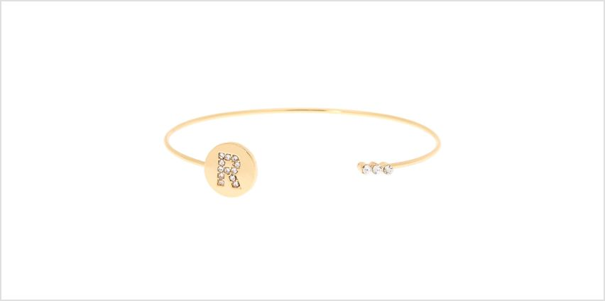Go to Product: Gold Initial Cuff Bracelet - R from Claires