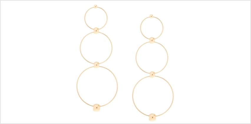 Go to Product: Gold-Tone Circle Drop Earrings from Claires