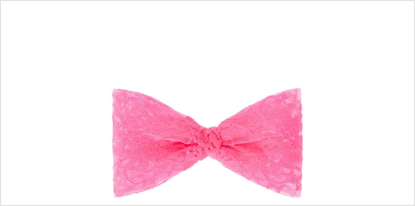 Go to Product: Large Neon Pink Lace Hair Bow from Claires