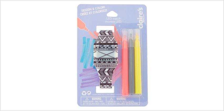 Go to Product: Design & Color Aztec LED Watch from Claires