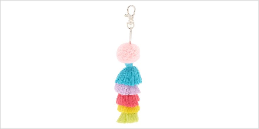 Go to Product: Rainbow Tassel Keychain from Claires