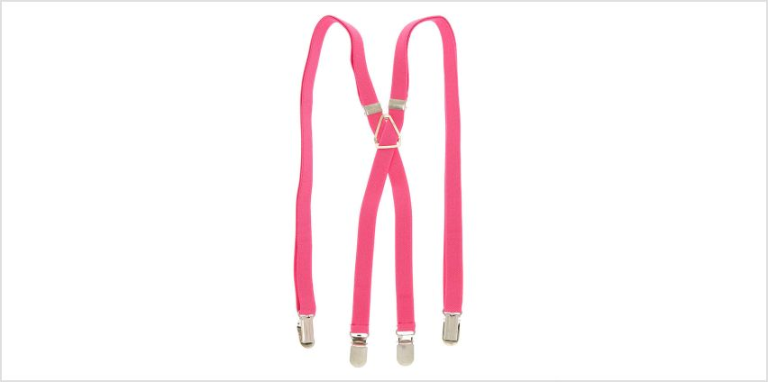 Go to Product: Skinny Braces - Pink from Claires