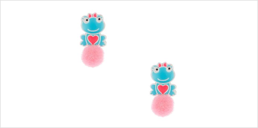 Go to Product: Sterling Silver Frog Puff Stud Earring from Claires