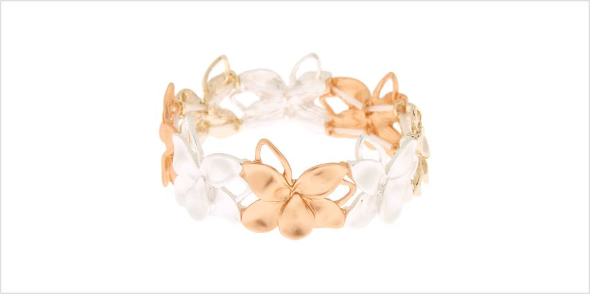 Go to Product: Mixed Metal Flower Stretch Bracelet from Claires