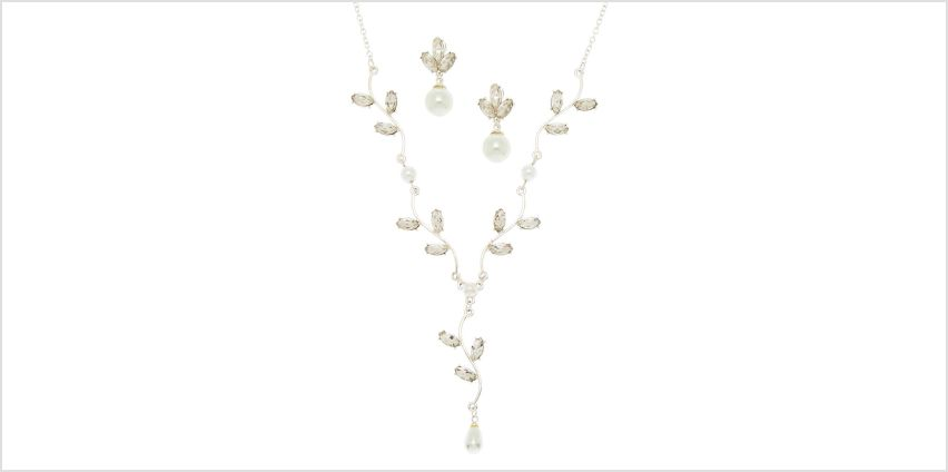 Go to Product: Silver Pearl & Glass Rhinestone Jewellery Set from Claires