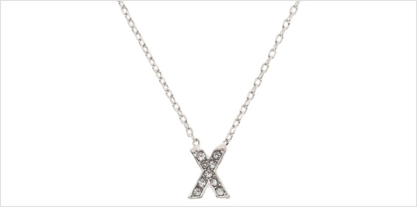 Go to Product: Silver Studded X Initial Necklace from Claires