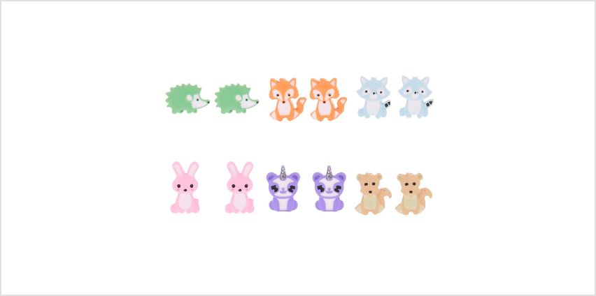 Go to Product: Pastel Animal Stud Earrings - 6 Pack from Claires