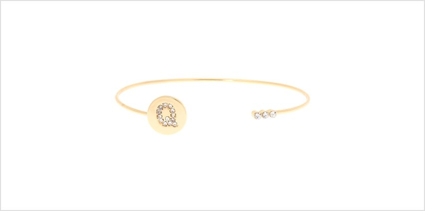 Go to Product: Gold Initial Cuff Bracelet - Q from Claires