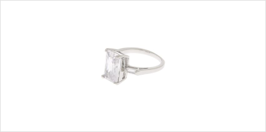 Go to Product: Silver Cubic Zirconia Bling Ring from Claires