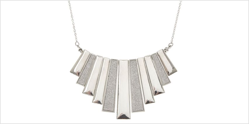 Go to Product: Silver Glitter Bar Fringe Necklace from Claires
