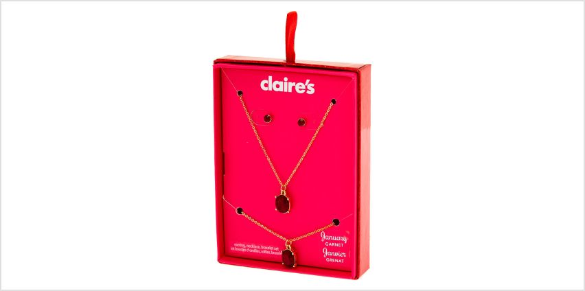 Go to Product: January Birthstone Jewellery Gift Set - Garnet, 3 Pack from Claires
